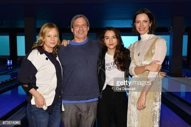 Samantha Mathis Dito Montiel Quinn Shephard and Rebecca Hall attend the SAGindie Party during the 2017 Tribeca Film Festival at Lucky Strike on April...