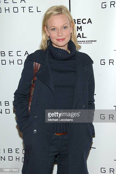 Samantha Mathis during 5th Annual Tribeca Film Festival Land Of The Blind Premiere Inside Arrivals at Tribeca Grand Hotel in New York City New York...