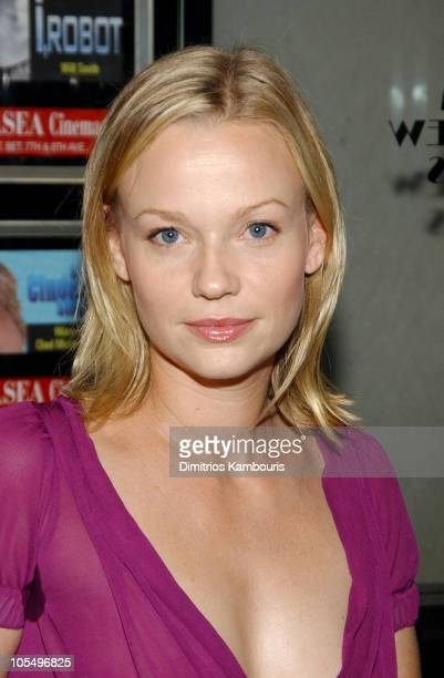 Samantha Mathis during Garden State New York City Premiere Inside Arrivals at Clearview Theatre in New York City New York United States