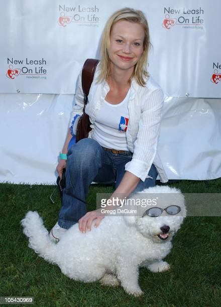 Samantha Mathis during Nuts for Mutts Celebrity Judged Dog Show at Pierce College in Woodland Hills California United States