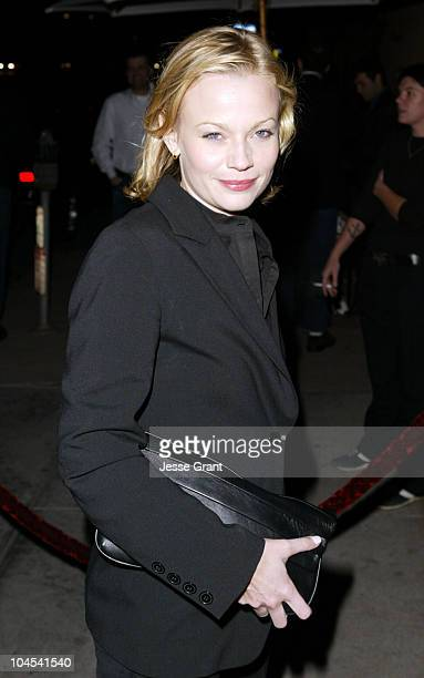 Samantha Mathis during The CAA PreGolden Globes Party at The Buffalo Club in Santa Monica California United States