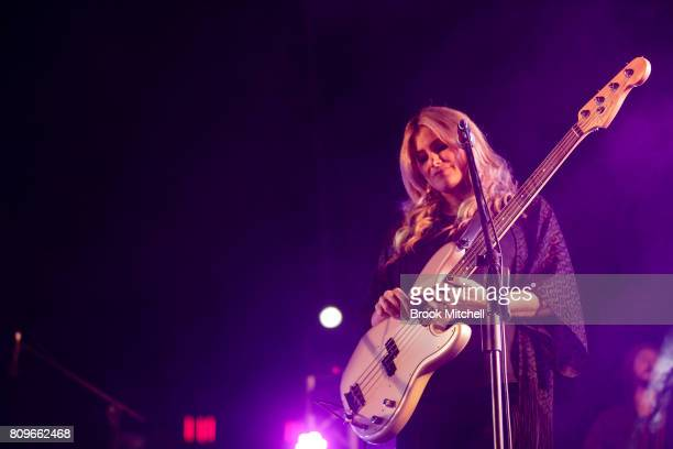 Samantha McClymont of the group The McClymonts performs at the Big Red Bash 2017 on July 6 2017 in Birdsville Australia