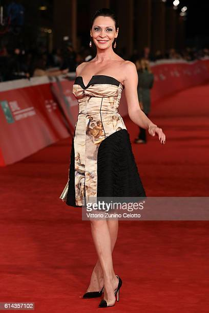 Samantha Michela Capitoni walks a red carpet for 'Moonlight' on October 13 2016 in Rome Italy