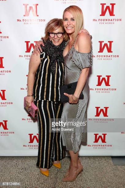 Samantha Monaco and Chelsea Handler attend the Ms. Foundation for Women 2017 Gloria Awards Gala & After Party at Capitale on May 3, 2017 in New York...