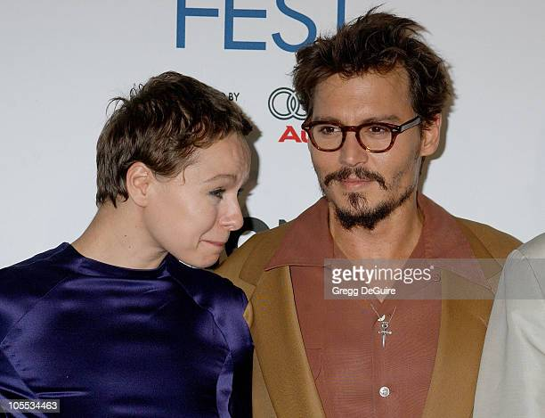Samantha Morton and Johnny Depp during The Weinstein Company's 'The Libertine' World Premiere Screening Arrivals at ArcLight Hollywood in Hollywood...