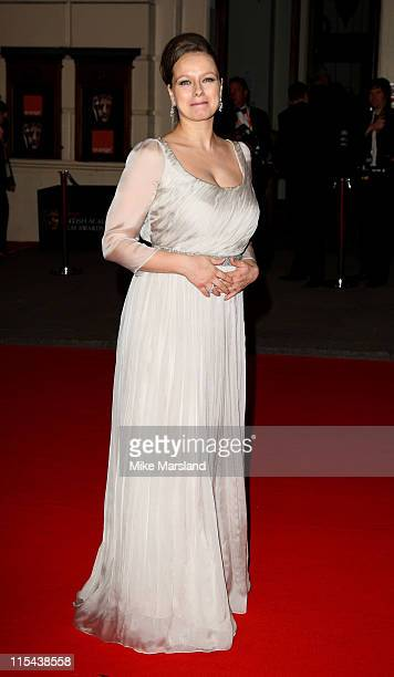 Samantha Morton arrives at the Orange British Academy Film Awards 2008 held at the Royal Opera House on February 10 2008 in London England