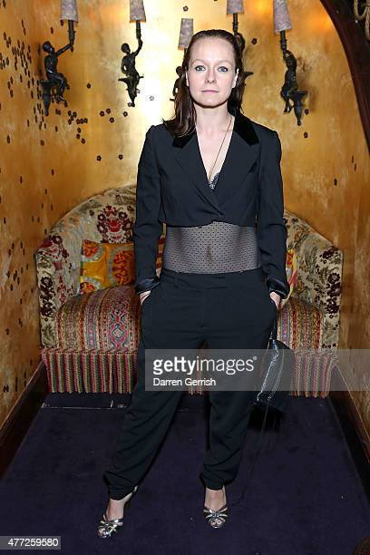 Samantha Morton attends Anotherman 10th anniversary party at Lou Lou's 5 Hertford Street Mayfair on June 15 2015 in London England