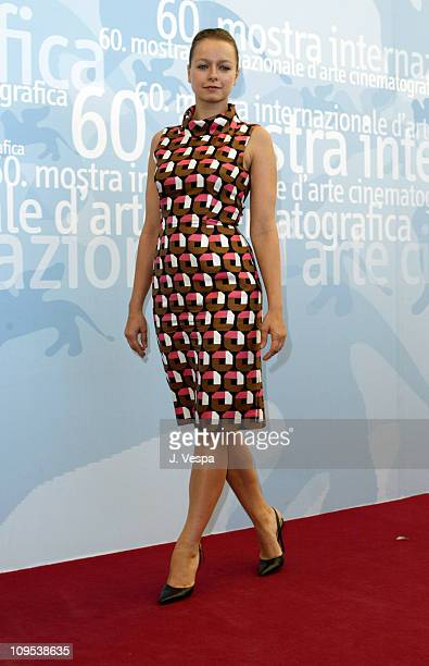 Samantha Morton during 2003 Venice Film Festival 'Code 46' Photocall at Casino in Venice Lido Italy