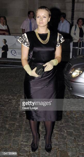 Samantha Morton during 'The Queen' UK Film Premiere Outside Arrivals at Curzon Mayfair in London Great Britain