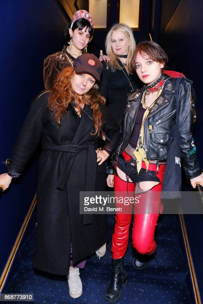 Samantha Morton Lee Starkey and Esme CreedMiles attend Fran Cutler's Halloween Freak Show at Tramp on October 31 2017 in London England