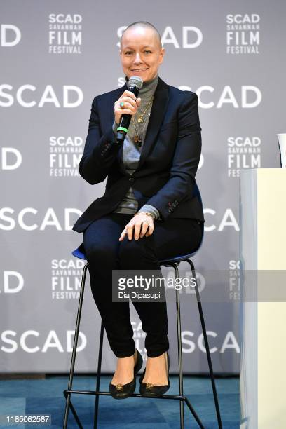 Samantha Morton speaks onstage during In Conversation with Samantha Morton at the 22nd SCAD Savannah Film Festival on November 02, 2019 at Gutstein...