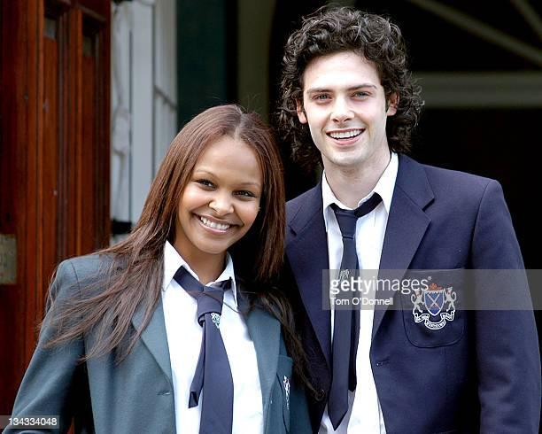 Samantha Mumba and her romantic lead David Leon