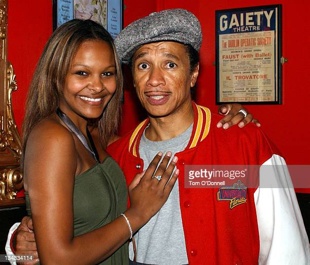 Samantha Mumba and Kid Creole during Samantha Mumba Attends the Opening of 'Oh What A Night' at Gaeity Theatre in Dublin Ireland