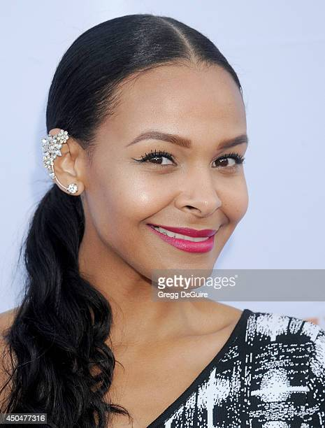 Samantha Mumba arrives at the Pathway To The Cures For Breast Cancer event at Barkar Hangar on June 11 2014 in Santa Monica California
