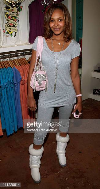 Samantha Mumba during Young Hollywood Rocks Ed Hardy Store May 2 2006 at Ed Hardy Store in Los Angeles California United States