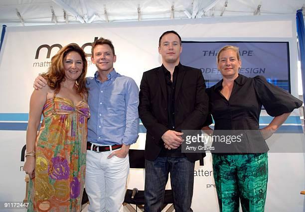 Samantha Nestor Jeff Andrews Tyler Blake and Marjorie Skouras at the Program Launch of Matters on Design at The Grove on September 26 2009 in Los...
