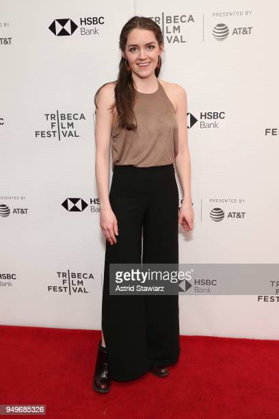 """Samantha Nugent attends the screening of """"The Serengeti Rules"""" during the 2018 Tribeca Film Festival at Cinepolis Chelsea on April 21, 2018 in New..."""