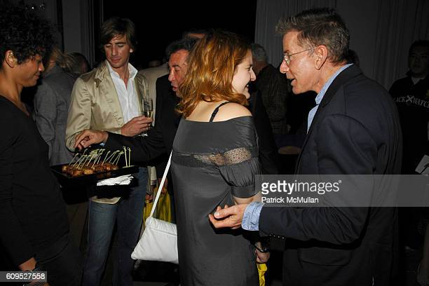 Samantha Perelman and Calvin Klein attend INTERVIEW MAGAZINE DIANE VON FURSTENBERG and W HOTELS Launch Party for BOB COLACELLO's new book OUT at Milk...