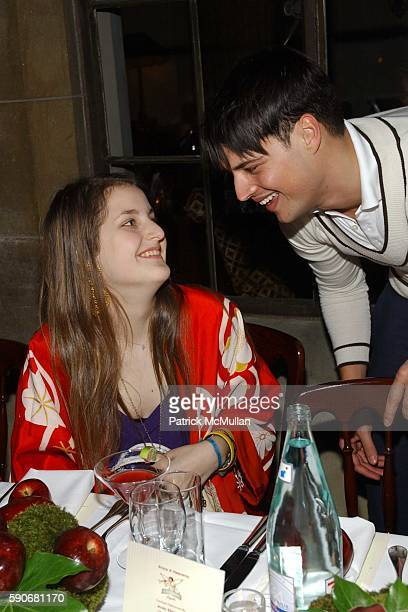 Samantha Perelman and Juliano de Rossi attend Gran Centenario hosts the adam +eve dinner with Adam Lippes at Chateau Marmont on March 18, 2005 in Los...