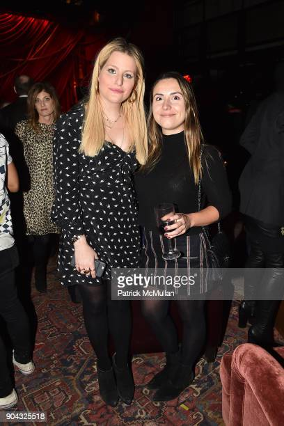 """Samantha Perelman and Nicole Martin at The Cinema Society & Bluemercury host the after party for IFC Films' """"Freak Show"""" at Public Arts on January..."""