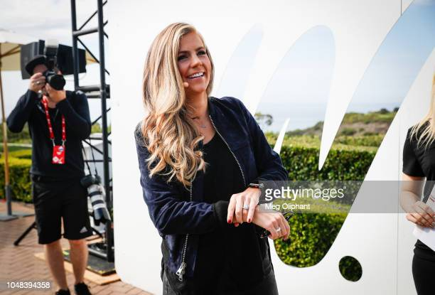 Samantha Ponder of ESPN prepares to go onstage at the espnW Summit held at Resort at Pelican Hill on October 2 2018 in Newport Beach California