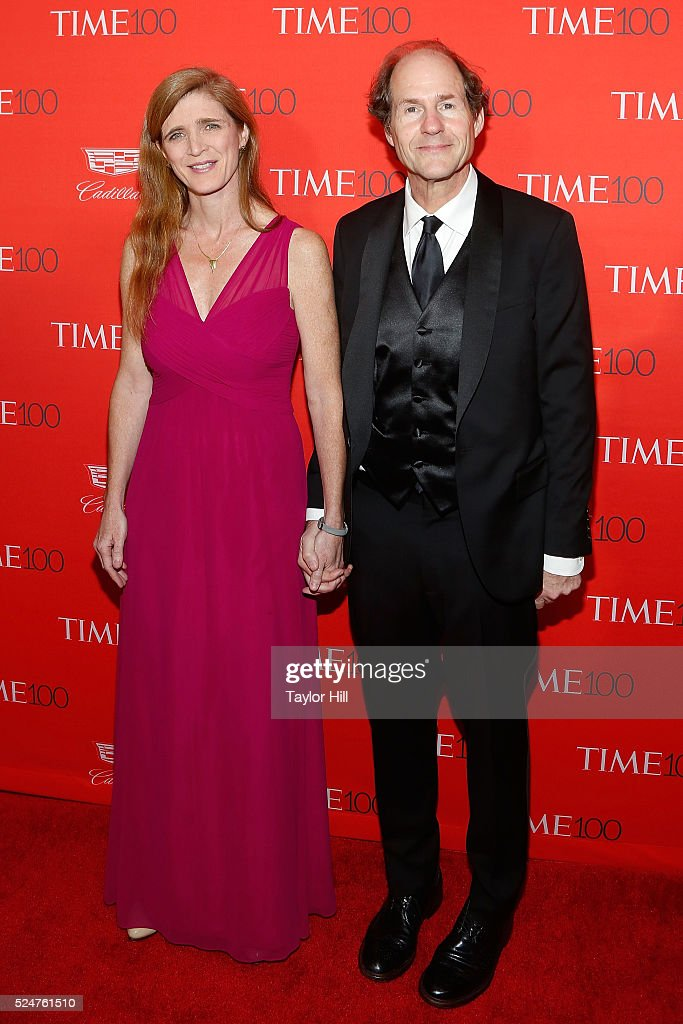 Samantha Power and Cass Sunstein attend the 2016 Time 100 Gala at Frederick P. Rose Hall, Jazz at Lincoln Center on April 26, 2016 in New York City.