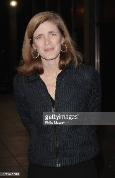 Samantha Power appears on The Late Late Show on November 10 2017 in Dublin Ireland