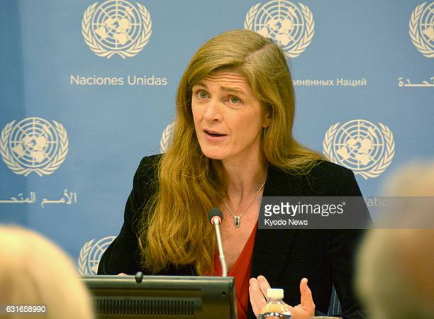 Samantha Power attends her last press conference as the US ambassador to the United Nations at the UN headquarters in New York on Jan 13 2017 Power...