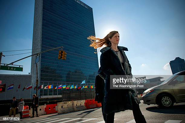 Samantha Power US Ambassador to the United Nations returns to her office after meetings at the UN in New York NY on January 17 2014