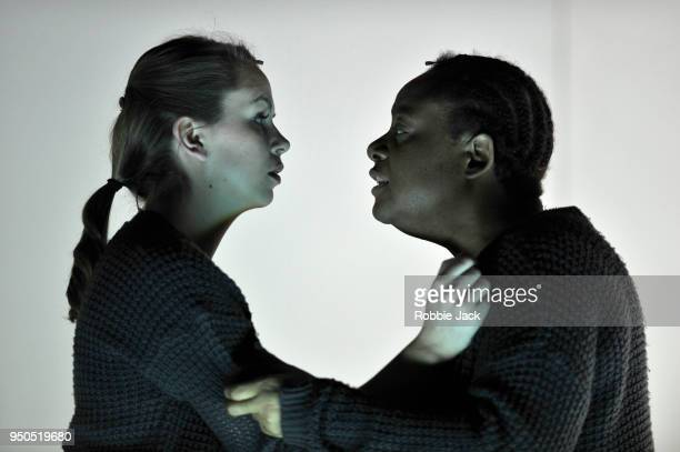 Samantha Price as Clare and GwenethAnn Rand as Gwen in the Royal Opera's production of Sarah Kane's 448 Psychosis directed by Ted Huffman and...