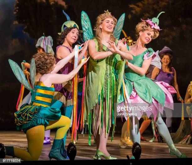 Samantha Price as Iolanthe with the Company on stage in a new production by English National Opera of Iolanthe at The London Coliseum on February 12...