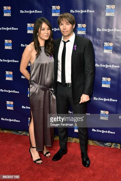 Samantha Quan and Sean Baker attend IFP's 27th Annual Gotham Independent Film Awards at Cipriani Wall Street on November 27 2017 in New York City