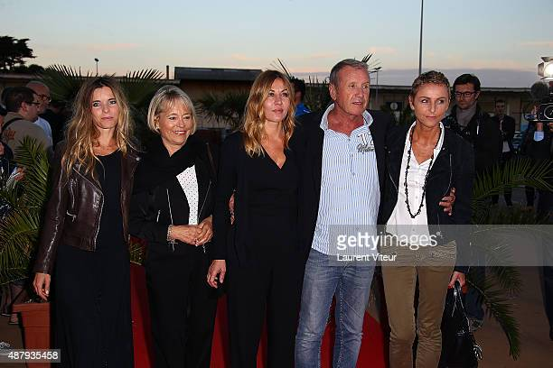 Samantha Renier guest, Actress Mathilde Segnier, Actor Yves Renier and his wife Karine attend the red carpet closing ceremony of the 17th Festival of...