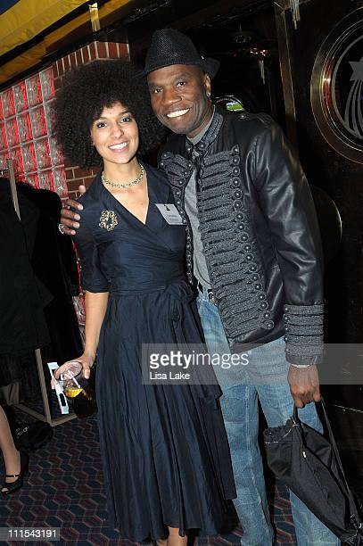 Samantha Roberson and Cecil Parker attend the Philadelphia Chapter 52nd Annual GRAMMY Awards Telecast Viewing Party at Dave and Buster's on January...
