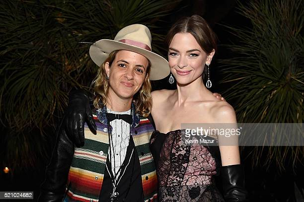 Samantha Ronson and actress Jaime King attend the launch of the Parker Institute for Cancer Immunotherapy an unprecedented collaboration between the...