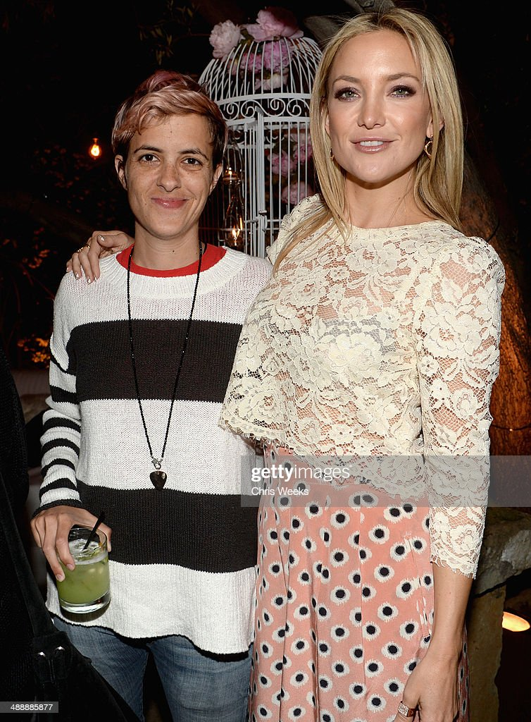 DJ Samantha Ronson (L) and actress Kate Hudson attend Chrome Hearts & Kate Hudson Host Garden Party To Celebrate Collaboration at Chrome Hearts on May 8, 2014 in Los Angeles, California.
