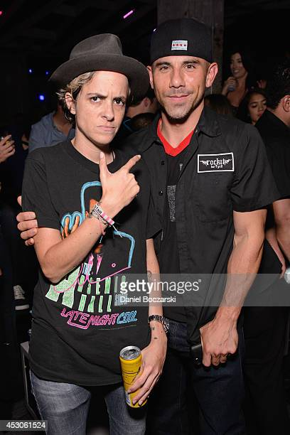 Samantha Ronson and Billy Dec attend the Lollapalooza Weekend afterparty at The Underground on August 1, 2014 in Chicago, Illinois.