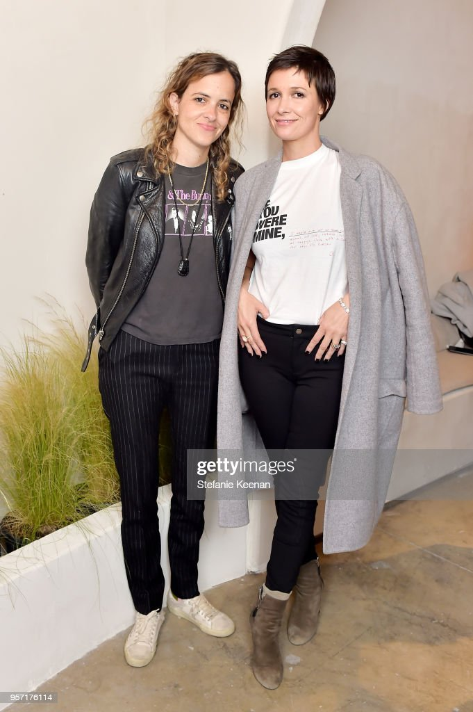 Samantha Ronson (L) and Cassandra Grey attend Julianne Hough and Anita Patrickson Host an evening at AMANU to benefit LOVE UNITED at Amanu on May 10, 2018 in West Hollywood, California.
