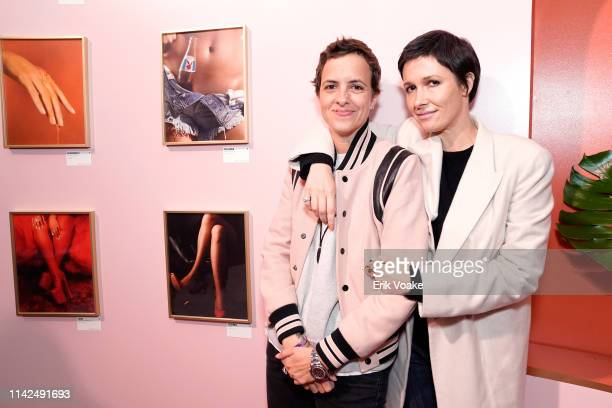 Samantha Ronson and Cassandra Grey attend the Playboy Playhouse on May 9 2019 in Hollywood California