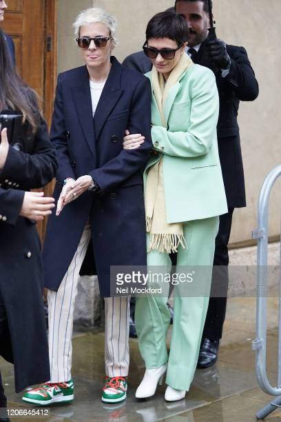 Samantha Ronson and Cassandra Grey attend Victoria Beckham at Banqueting House during LFW February 2020 on February 16 2020 in London England