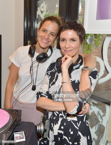 Samantha Ronson and Founder of VIOLET GREY Cassandra Grey attend Beats by Dre for VIOLET GREY Party on July 11 2018 in Los Angeles California