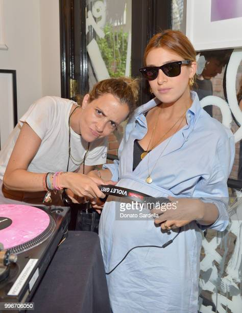 Samantha Ronson and Jamie Mizrahi attend Beats by Dre for VIOLET GREY Party on July 11 2018 in Los Angeles California