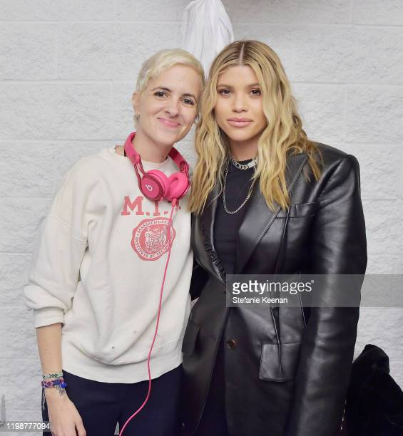 Samantha Ronson and Sofia Richie attend VIOLET GREY'S Estée Lauder Act IV capsule makeup collection launch honoring Danielle Lauder on January 10...