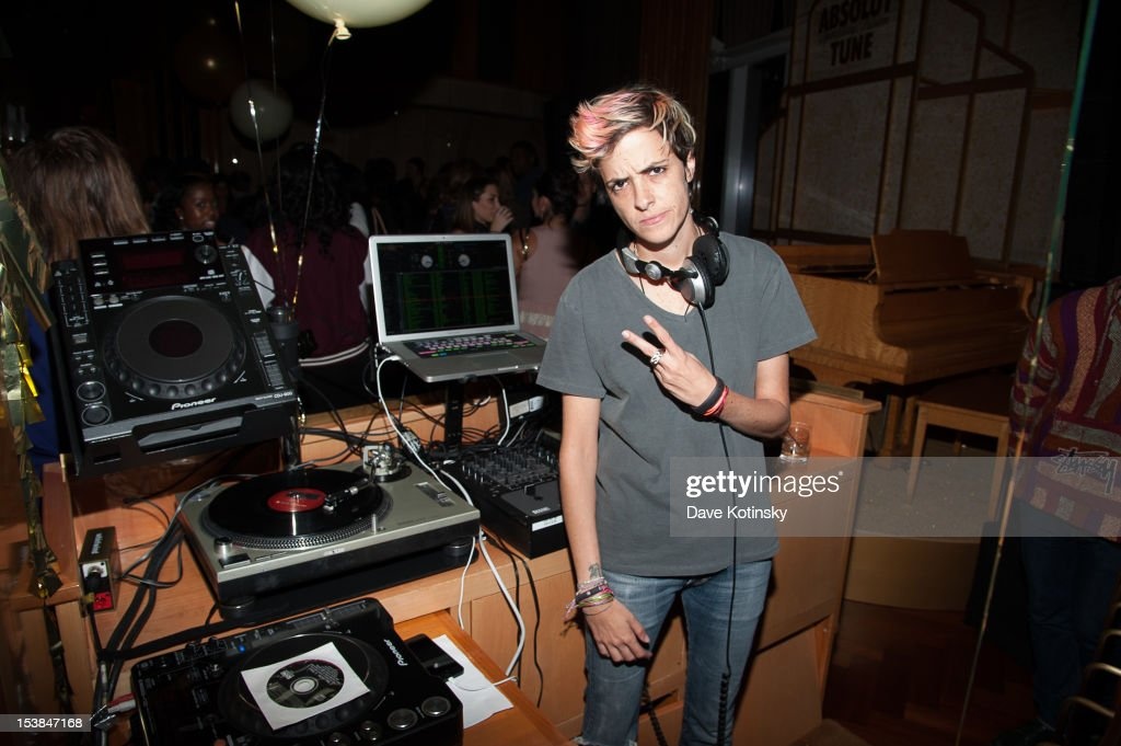 DJ Samantha Ronson attends the Absolut Tune Launch Party at The Top of The Standard on October 9, 2012 in New York City.