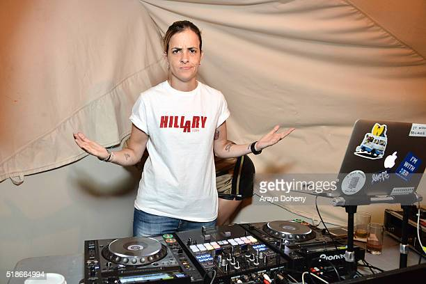 Samantha Ronson attends the boohoocom Flagship LA Pop Up Store with opening party fueled by CIROC UltraPremium Vodka on April 1 2016 in Los Angeles...