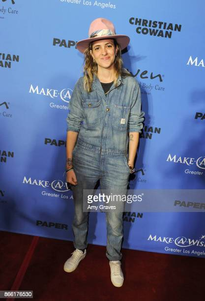 Samantha Ronson attends the PAPER Magazine Runway Benefit For MakeAWish Foundation at The Taglyan Complex on October 24 2017 in Los Angeles California