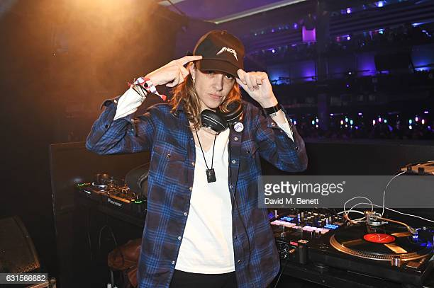 Samantha Ronson DJs at the NBA Global Game London 2017 after party at The O2 Arena on January 12 2017 in London England