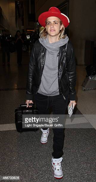 Samantha Ronson is seen at LAX Airport in Los Angeles Ca on September 16 2015 in Los Angeles California