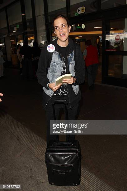 Samantha Ronson is seen at LAX on June 23 2016 in Los Angeles California