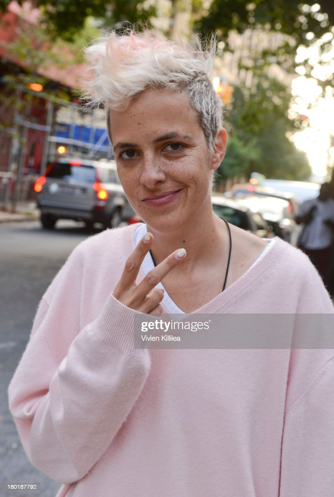 Samantha Ronson is seen outside the Dannijo presentation during Mercedes-Benz Fashion Week Spring 2014 at Industria Studios on September 9, 2013 in New York City.